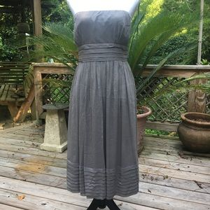 J. Crew Juliet Dress In Silk Chiffon Gray Sz 14